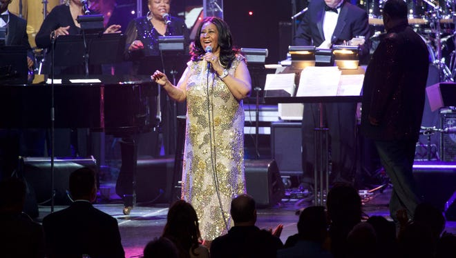 Aretha Franklin performs in concert at Microsoft Theater in Los Angeles on August 2, 2015.