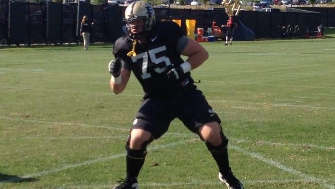 David Hedelin, Purdue left tackle