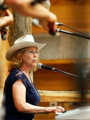 """Mary Greene played the first song of the evening, """"Ain't"""