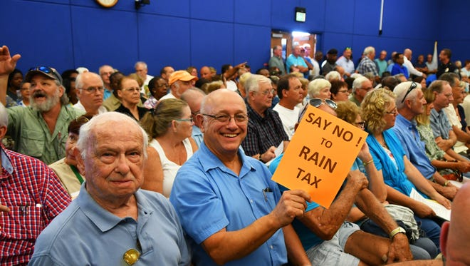 The Thursday Palm Bay City Council meeting was packed to it's 220 seat capacity, as well as having a large overflow of citizens outside, mainly due to the proposed stormwater service assessments and fee increase.