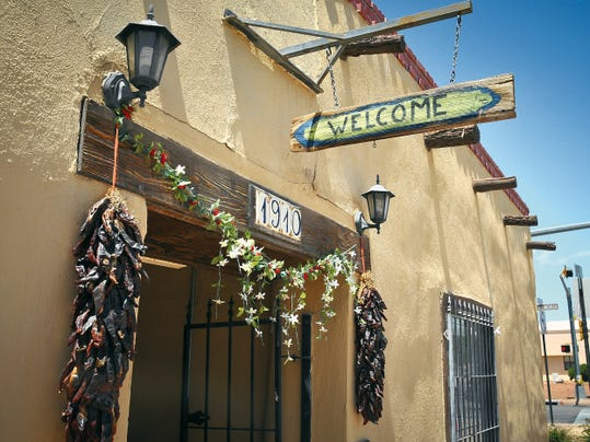 Jett Loe--Sun-News   The entrance to The Old Tortilla Factory in Mesilla which houses Tres Manos, a nonprofit organization that helps women increase their income through learning the art of weaving.