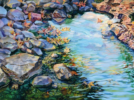 """""""Tranquility"""" by Alex Rosa, the largest work ever featured at the Gallery at Big Picture, 311 N. Main St., will be among highlights of September's Downtown Ramble from 5 to 7 p.m. today."""