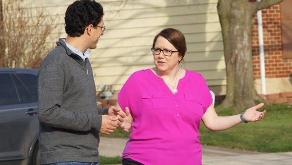 Newark City Councilwoman-elect Jennifer Wallace speaks