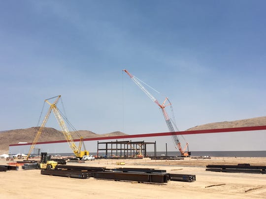 Tesla's new Gigafactory is rising out of the Nevada