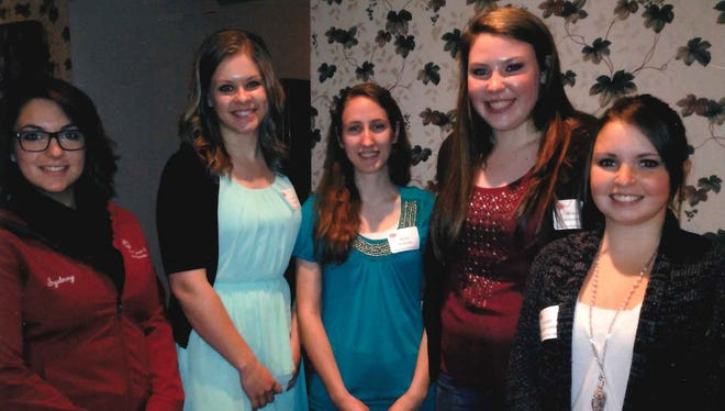 Each spring, Riverview Hospital Auxiliary awards five $1,000 scholarships to area high school seniors pursuing a career in an approved medical field. This year's scholarship recipients were honored at the Auxiliary's annual spring luncheon on May 14. They are Sydney Young, Wisconsin Rapids Lincoln; from left, Jordyn Stashek, Assumption; Allison Anderson, Wisconsin Rapids Lincoln; Brooke Doescher, Wisconsin Rapids Lincoln; and Jessalyn Wallace-Leese, Port Edwards.