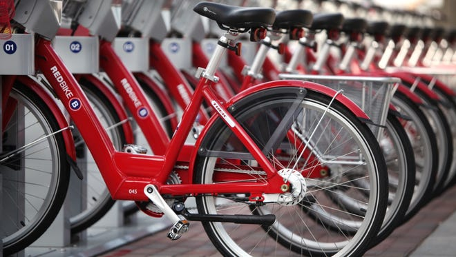 Want to do the Over-the-Rhine bike tour but don't have a bike or a way to get it downtown? No problem. Grab a Red Bike.