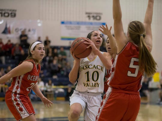 Pascack Valley's Toriana Tabasco goes up with shot