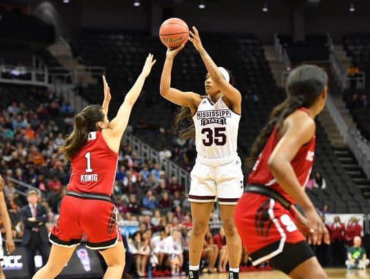 NCAA Womens Basketball: NCAA Tournament-Kansas City Regional-Mississippi State vs North Carolina State