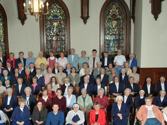 Members of the Sisters of Mercy and Mercy associates pose for a group photo in 2005.