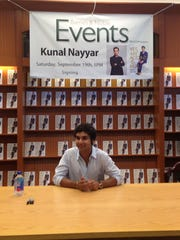 """Kunal Nayyar, who portrays Raj Koothrappali on """"The Big Bang Theory"""" gets ready his booksigning Saturday at the Barnes & Noble in Menlo Park Mall in Edison. Nayyar's book, """"Yes, My Accent Is Real And Some Other Things I Haven't Told You"""" was released Tuesday."""