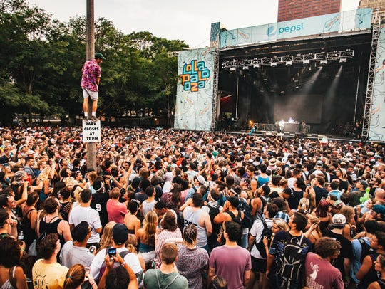 Vince Staples performs to a huge crowd on Sunday, July