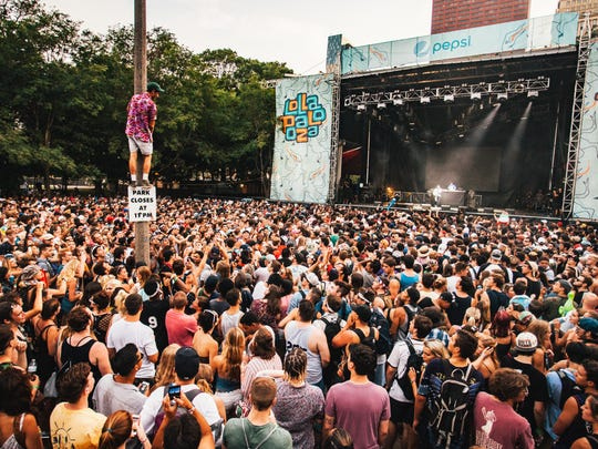 Vince Staples performs to a huge crowd on Sunday, July 31 at Lollapalooza.