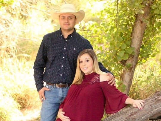 Jose Elias Caraveo-Serrano, 30, wife Susana Caraveo, 29, and daughter 9-month-old Julissa Caraveo, of Phoenix, are among the six who died in Monday's fatal multi-vehicle collision near the New Mexico state line.