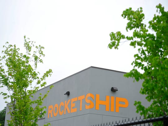 A view of the front of at Rocketship Nashville Northeast Elementary in Nashvillen on May 19, 2015.