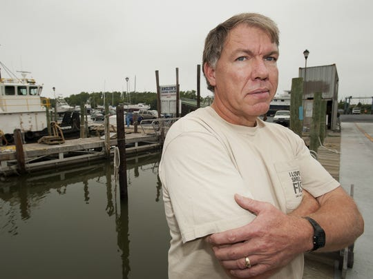 A file photo from 2011 of Joe Morris, owner of Lewes Harbour Marina in Lewes. Morris spoke about the damage of Hurricane Irene back in 2011.