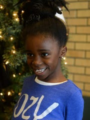 Loy Elementary second grader Ebony Humphries, age 8