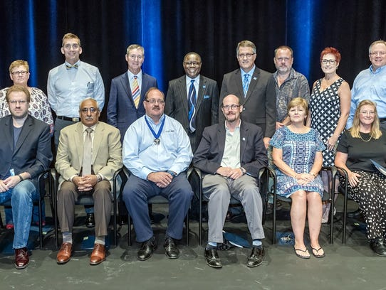 MTSU faculty members gather for a group photo with