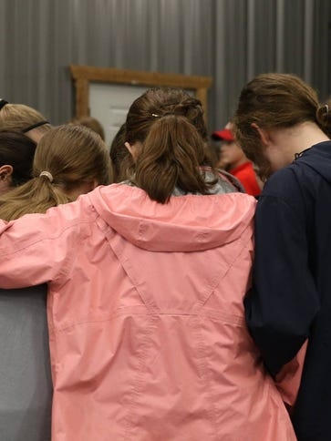 Students gather at the first Protect Prayer rally in