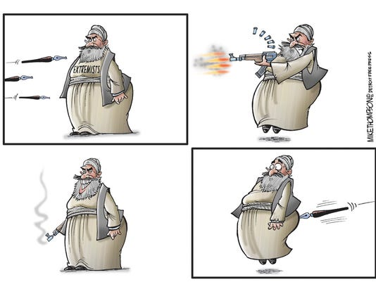 Cartoonists won't back down to extremists