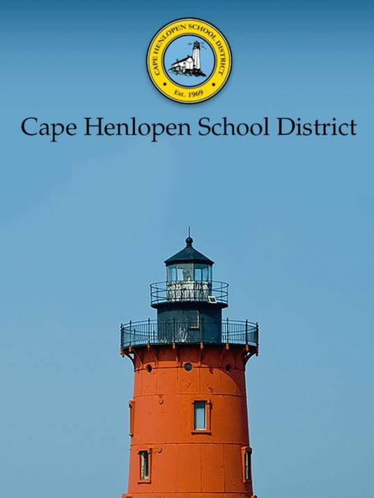 Cape Henlopen School District app splash page