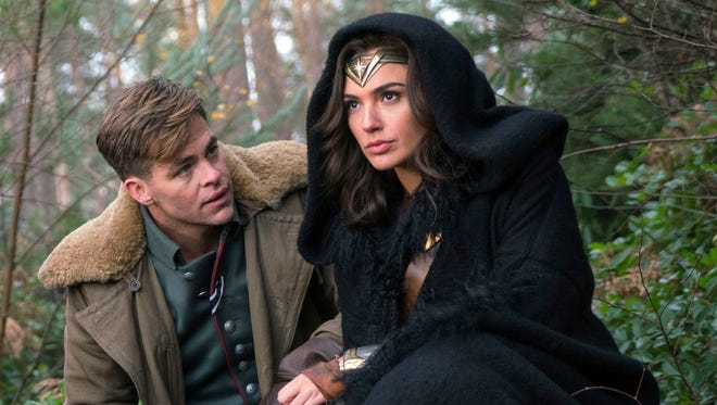 Chris Pine, left, and Gal Gadot team up in 'Wonder Woman.'