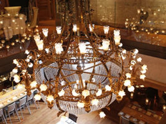 The chandelier at Boca, Downtown