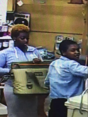 These two women robbed the Sullivan Hardware Store on the northside of Indy on Friday, pepper spraying the clerk when she tried to stop them. A similar robbery at the Tippecanoe Mall by two women with similar descriptions was reported to Lafayette police about 4:30 p.m. July 31.