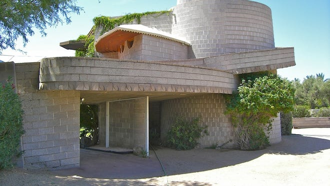 The David and Gladys Wright House was built in the early 1950s in the Arcadia area of Phoenix.