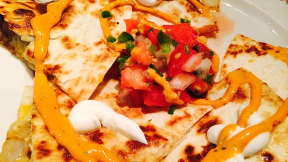 Quesadilla with everything at Local Links.