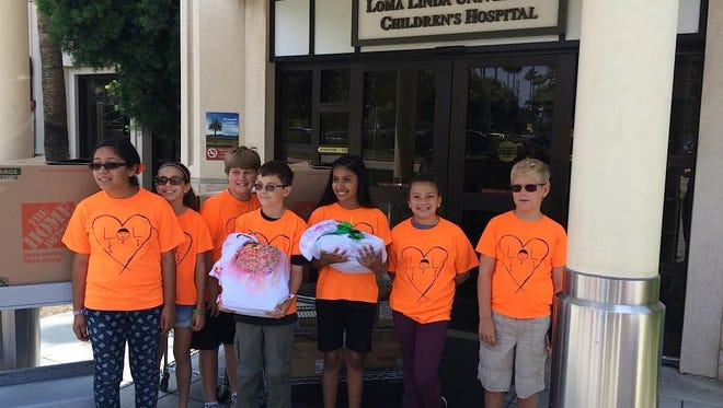 Katherine Finchy Elementary's Community Problem Solving team created care packages for oncology patients at Loma Linda Children's Hospital.