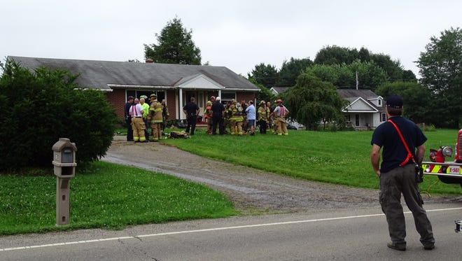 Fire crews responded to a house fire just before 11 a.m. on Wednesday at 625 Coonpath Road.