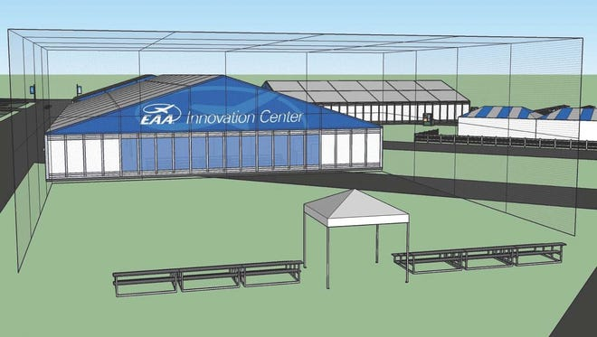"""EAA is adding a new area to the convention this year focusing on innovation, """"Aviation Gateway Park"""" that includes a """"Drone Cage."""""""