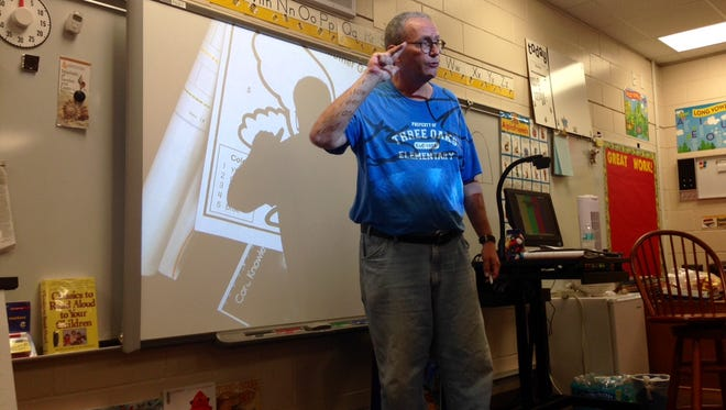 Paul McCarthy is one of nine male kindergarten teachers in Lee and Collier counties.