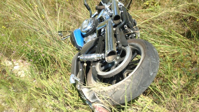 One driver was transported to Baxter Regional Medical Center Friday afternoon after a motorcycle accident on CR 69 in rural Mountain Home. Authorities say the injured woman, Lara Moultrie, had driven off the road on her Harley Davidson motorcycle. No other injuries were reported at the scene.