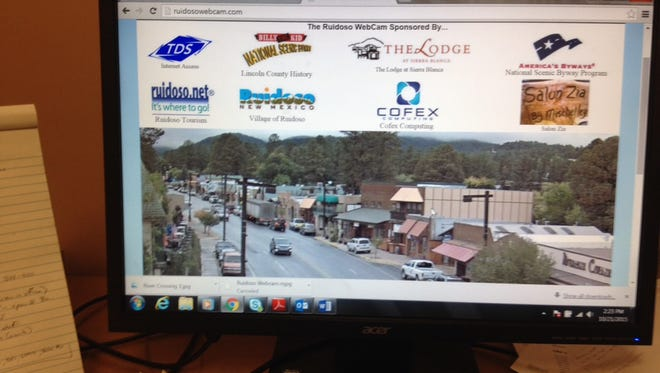 Tourism officials and business sponsors have replaced the old Ruidoso webcam, hit by lightning, with a new all-weather version.