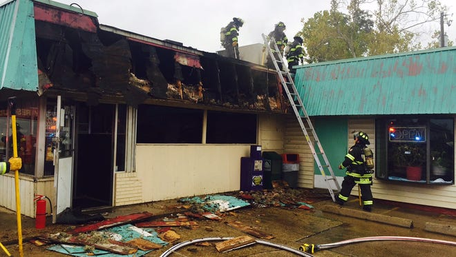 Southern Maid Donuts on E. Texas Street in Bossier City caught fire Friday morning.