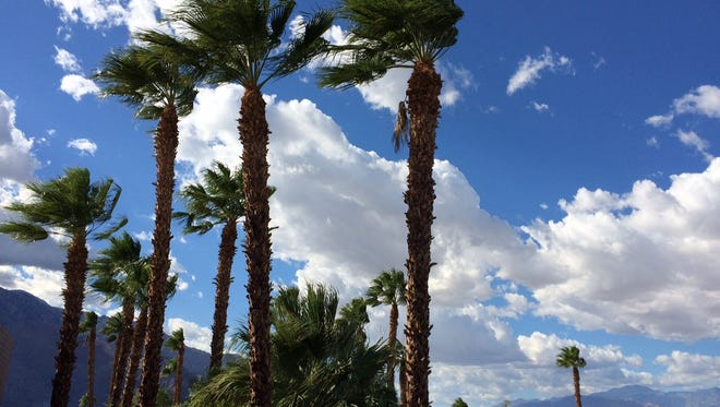 The Coachella Valley is being hit by strong winds Friday.