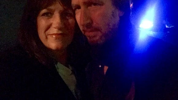 My rocker brother Danny and me on my night on the town.