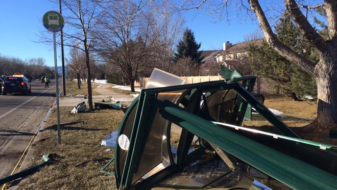 An unidentified male driver was seriously injured after crashing into an empty Transfort bus stop at Horsetooth Road and Kingsley Drive on Thursday afternoon.