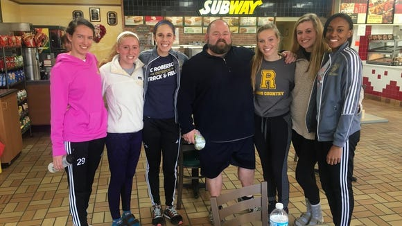 Saturday was Andy Morgan's final meet as Roberson's girls track coach.