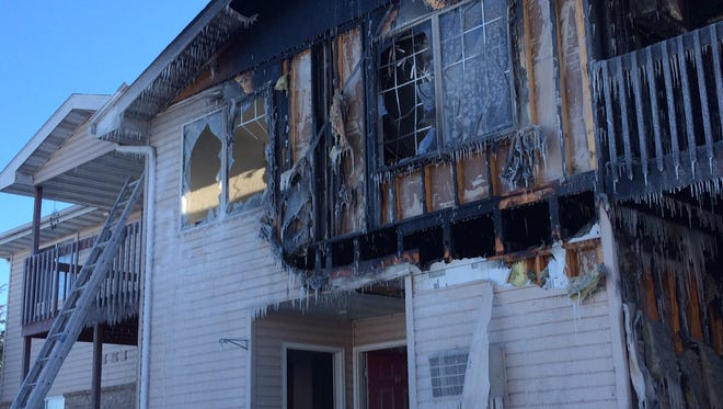 Fire gutted several apartments and other apartments sustained extensive smoke and water damage Saturday at 890 S. Oxford Ave., Sturgeon Bay.