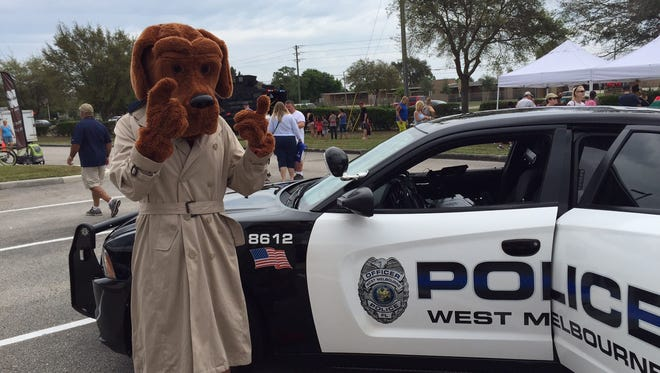 """McGruff the Crime Dog was among the """"special guests"""" at the West Melbourne Police Department's sixth annual """"Spring Fest"""" held on Saturday."""