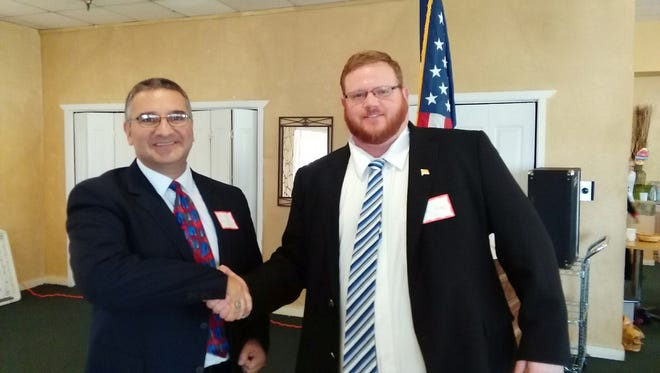 District Attorney candidates John Sugg and David Ceballes.