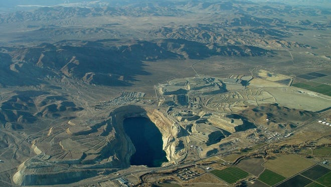 The Anaconda Mine site is shown from an aerial view.