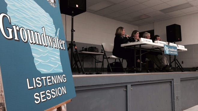 About 150 people attended a groundwater listening session Thursday in Saratoga. Four Democratic lawmakers hosted the meeting: State Rep. Katrina Shankland, D-Stevens Point; Sen. Julie Lassa, D-Stevens Point; Sen. Mark Miller, D-Monona; and Rep. Cory Mason, D-Racine.