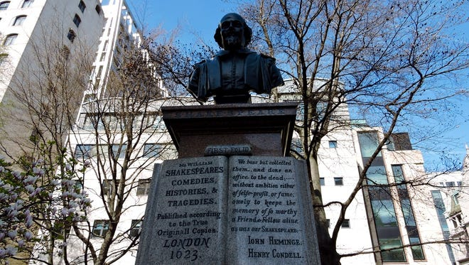 A bust of Shakespeare in eastern London.