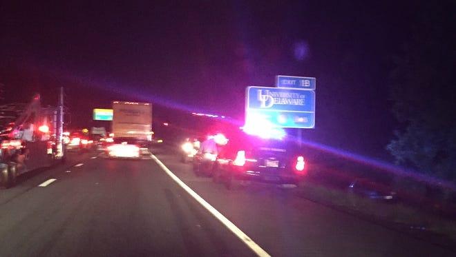 Traffic on southbound I-95.
