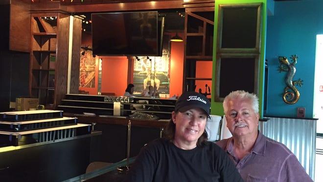 Trish Balentine and Roger Carlton opened Tipsy Taco last year.