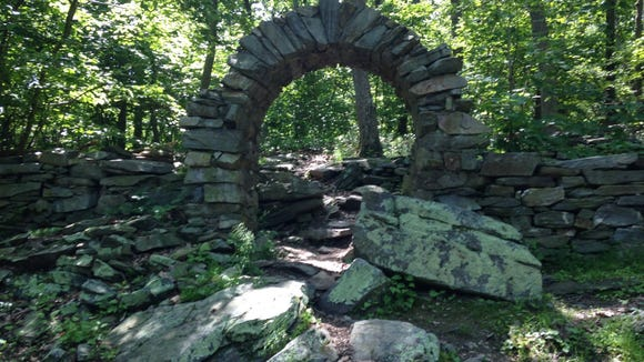 This is an entrance - grander than most - to the Appalachian Trail at Gathland State Park in Maryland.