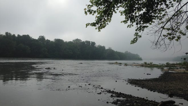 This is an early morning view of the Susquehanna River in York Haven Tuesday, where crews had searched unsuccessfully Monday night for someone in the river.